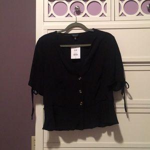 Topshop black blouse